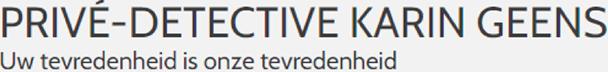 Privé-detective Karin Geens - Privé detective